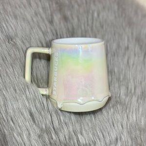 Starbucks Iridescent Drip White Mug